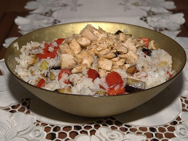 Tavuklu Sebzeli Pirinç Pilavı