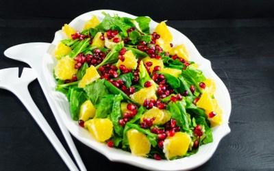 Ispanak Salatası (Portakal ve Narlı)