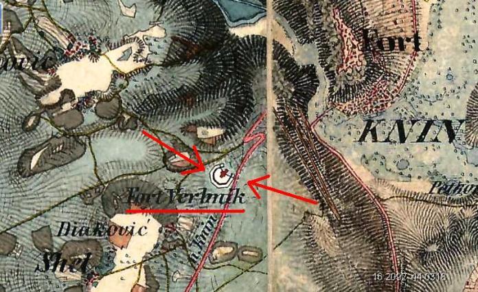 Detalj austrijske topografske karte