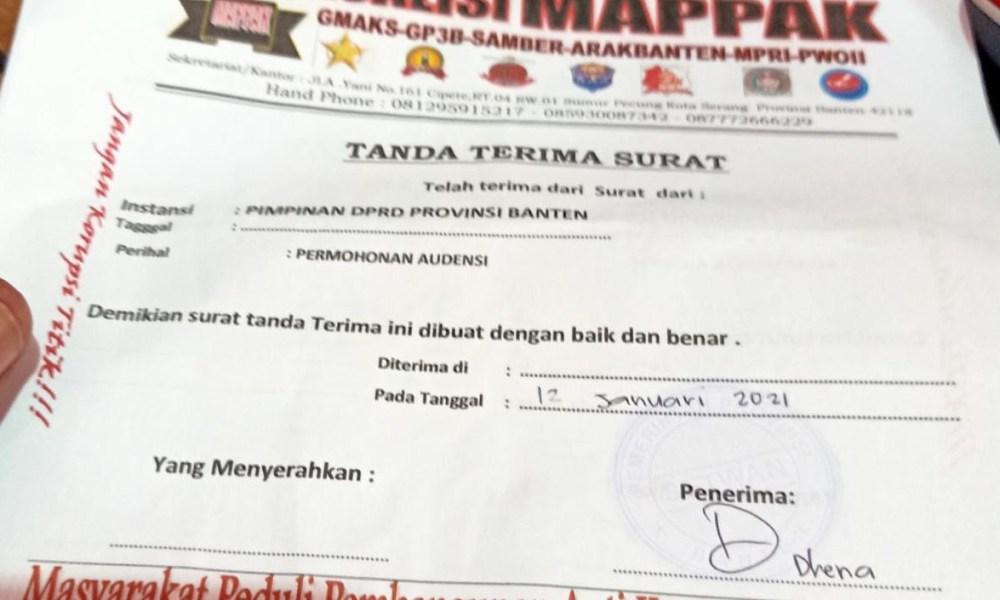 Pimpinan DPRD Provinsi Banten Abaikan Surat Audensi Koalisi MAPPAK Banten