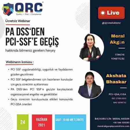 QRC'den ücretsiz PCI SSF webinarı