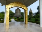Temple with peace bell in meditation park