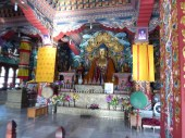Heavily decorated Bhutanese interior