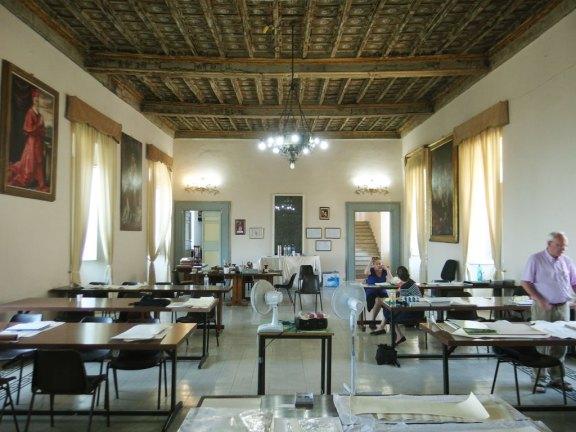 Main hall of Seminario Barbarigo in Montefiascone