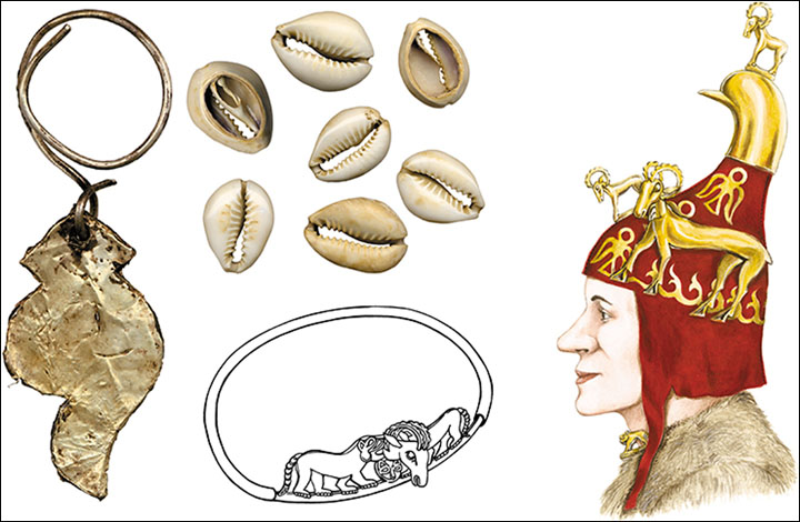 Grave adornments and face reconstruction