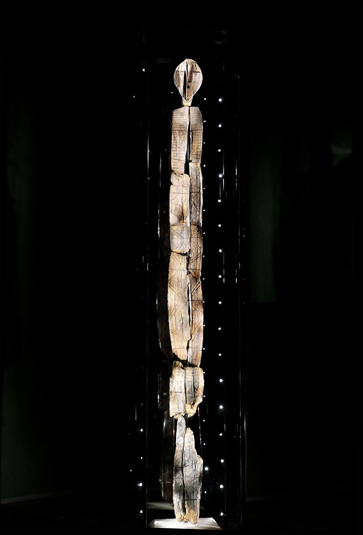The Idol is the oldest wooden statue in the world, estimated as having been constructed approximately 9,500 years ago