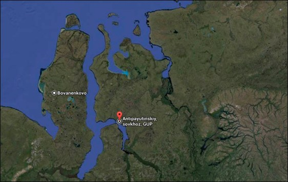 Yamal holes on the map