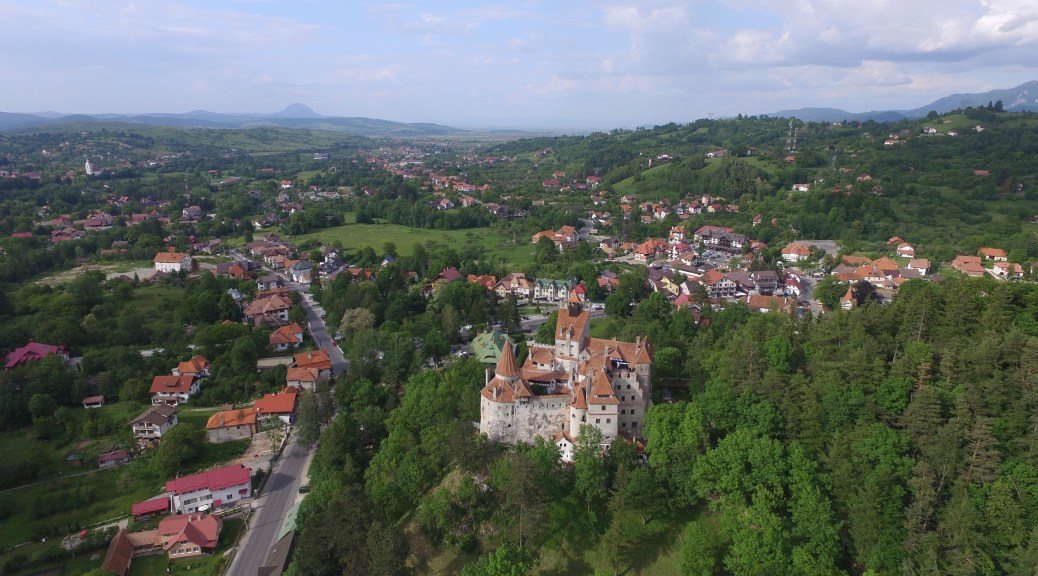 Bran village and Bran Castle, in May