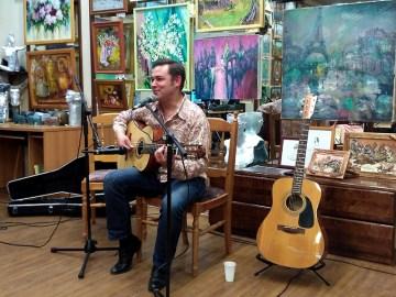 Евгений Харитонов в галерее Джазиум