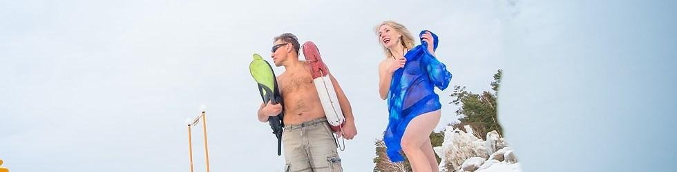Белые пляжи Сибири. Александр Орлов, Елена Берсенёва. Фото Ильнара Салахиева