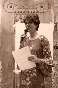 Наталья Пинус. Открытая дискуссия: «Судьба новаторского искусства в Новосибирске». Фото Александра Симушкина