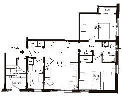 2 Bedroom Apartment Floor Plan | Sibley Manor