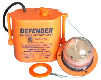 Defender (luce esterna per zattere omologata solas) - Product design