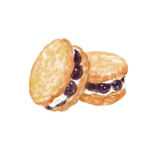 Sandwich aux biscuits de Raisin