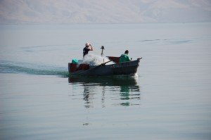 fishermen onthe Sea of Galilee