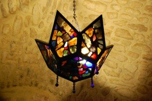 sweet little lamp in St. Jerome's cell - the church of the Nativity - Bethlehem