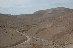 the wilderness between Jericho and Jerusalem