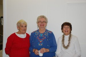 Sonya, Esther and Gerry enjoy Soup and Song - Dec. 2013