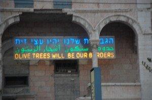 a  hopeful sign in Jerusalem