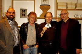 Outstanding Contribution to Comics awarded to Dave Alexander (centre right)