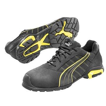 Puma S3 Schuhe mit Alukappe Amsterdam Low 642710, Gr. 43,  Schwarz- Gelb - 1