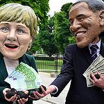 Obama Merkel photo