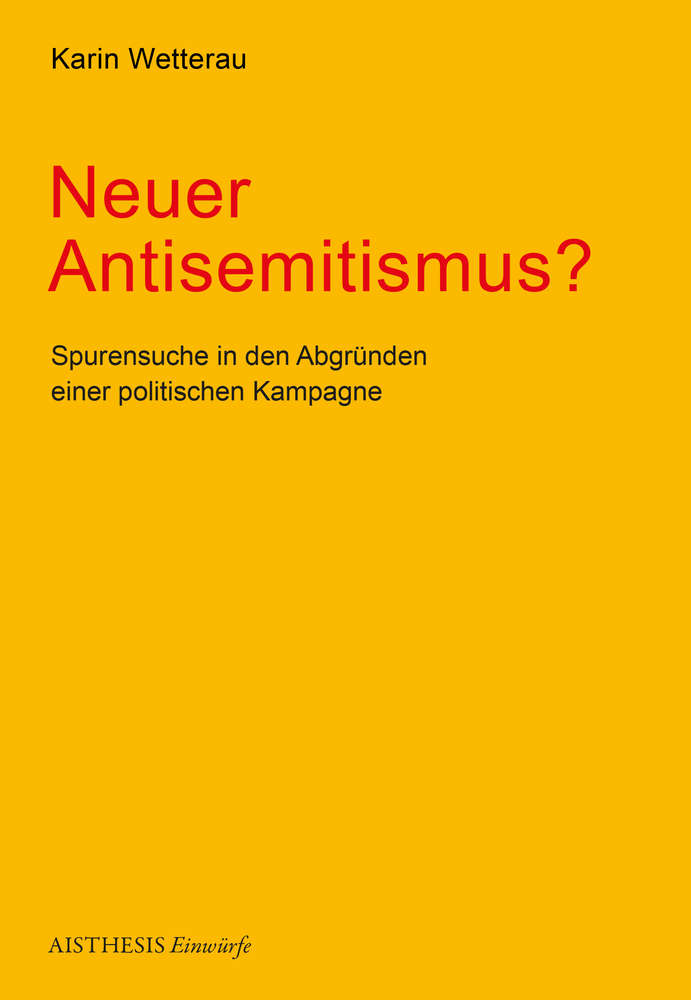 Neuer Antisemitismus Aisthesis