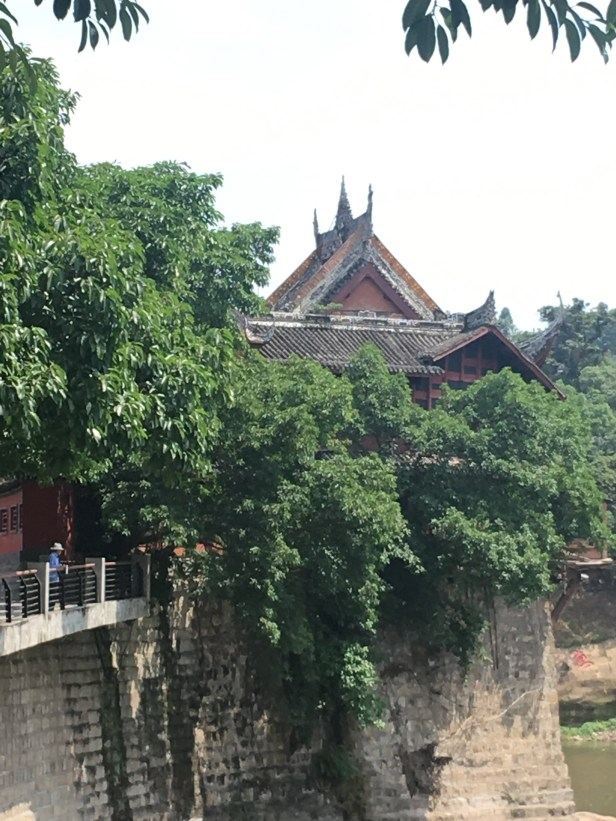 Zigong 自貢: Wangye miao 王爺廟 (chuangong hangye 船工行業) boatmen guildhall . Outside.