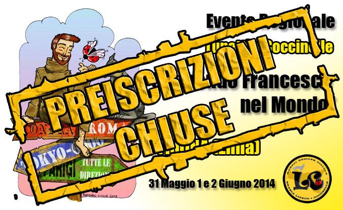 Seguendo Francesco2014 PREISCRIZIONI CHIUSE