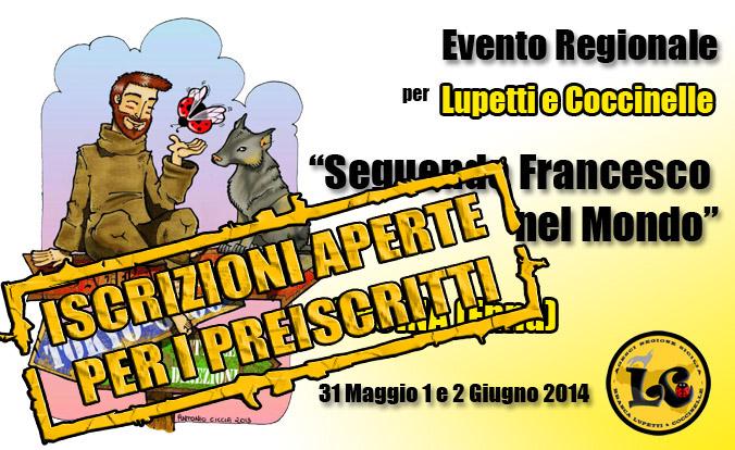 Banner seguendo Francesco2014 ISCRIZIONI