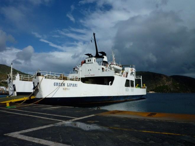 Dans le port de Lipari