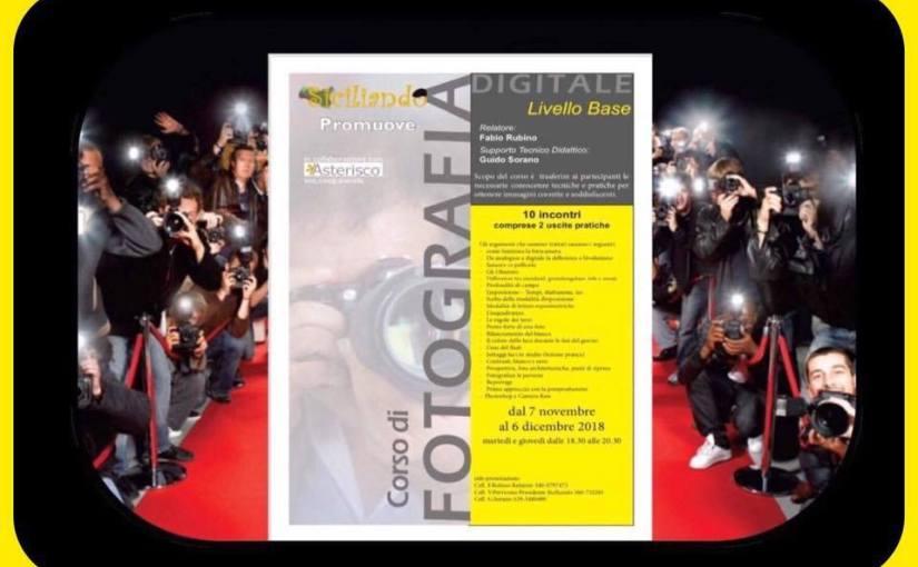 Siciliando promuove il corso di fotografia: si comincia il 7 novembre 2018