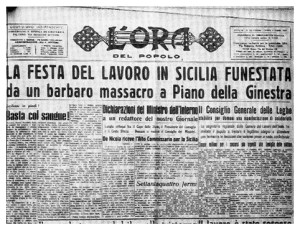 La prima pagina de L'Ora di Palermo