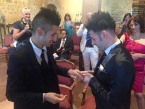 Il matrimonio di Mattia e Tonino a Taormina il 27 settembre scorso.