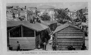 terremoto 1908, baracche
