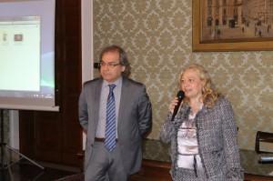 Il professor Giuseppe Ramires e il viceprefetto vicario Maria Antonietta Cerniglia (Foto Paolo Furrer)
