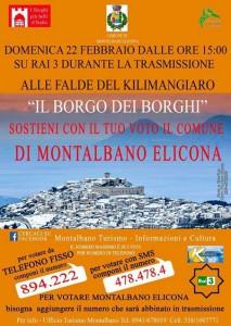 Locandina Montalbano Elicona Il borgo dei borghi