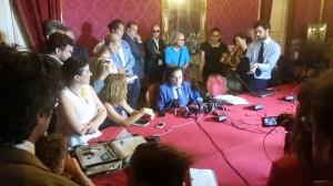 La conferenza stampa di Crocetta