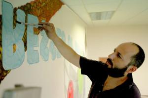 Hugo Canoilas in  studio
