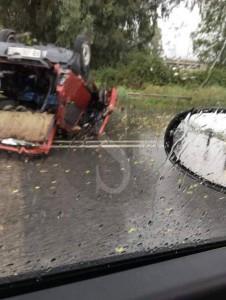 Incidente MIlazzo 21-10-2015 auto ribaltata