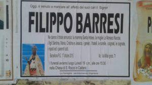 necrologio Filippo Barresi