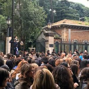 Una protesta dei lavoratori Almaviva a Palermo
