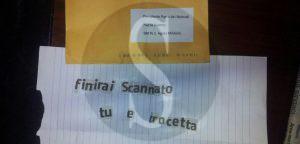 La lettera di intimidazione ad<div class=