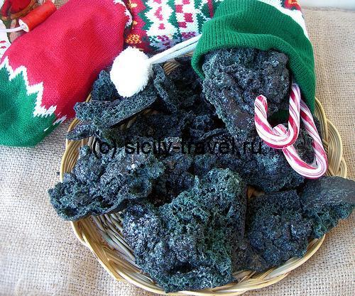 Сладкий уголь на Рождество в Италии