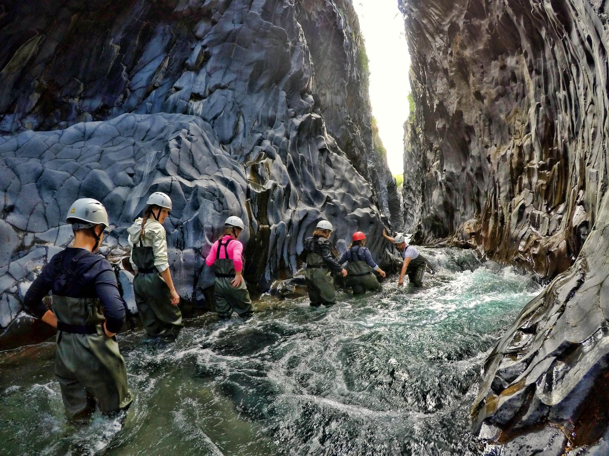 river trek gole alcantara sicily green adventures