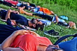 gruppo di yoga