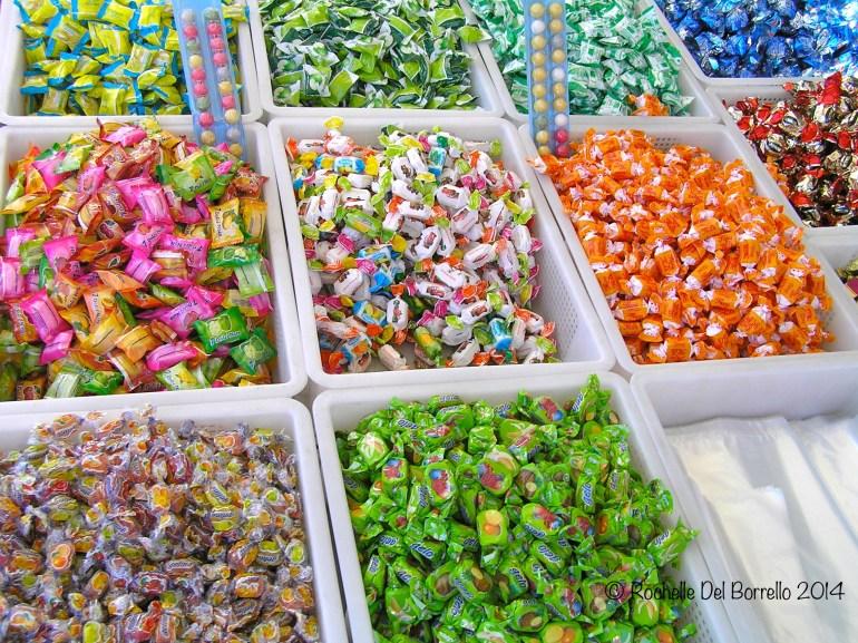 Candy at Christmas market