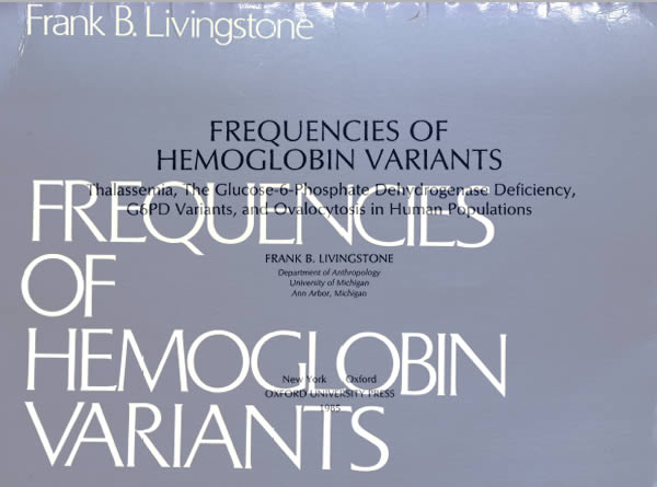 Livingstone Frequencies of Hemoglobin Variants 1985 Text Book