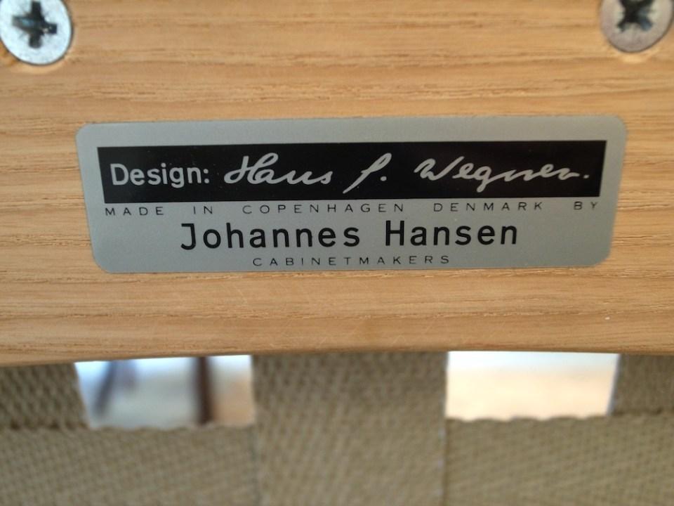 ウェグナー イージーチェア ヨハネスハンセン JH478-7