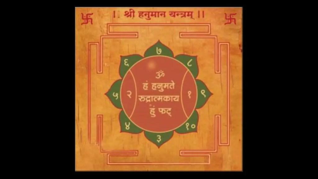 Hanuman sadhana siddha yantra